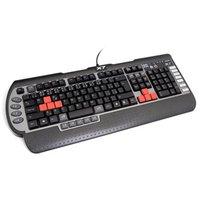 A4Tech G800V, Klávesnice CZ, herní, voděodolná typ drátová (USB), černá