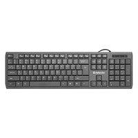 Defender OfficeMate SM-820, Klávesnice US, multimediální, tiché klávesy se zvětšeným designem typ dr
