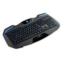 E-BLUE Klávesnice Auroza, herní, černá, drátová (USB), US + CZ/SK přelepky, podsvícené okraje