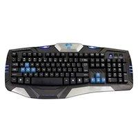 E-BLUE Klávesnice Combatant- EX, herní, černá, drátová (USB), US, podsvícené okraje, odolná proti po