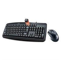 Genius Sada klávesnice KM-200, klasická, černá, drátová (USB), CZ, s drátovou optickou myší