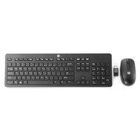 HP Wireless Deskset 300, Sada klávesnice CZ, bezdrátová, černá