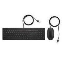 HP Pavilion Deskset 400, Sada klávesnice SK, drátová (USB), černá