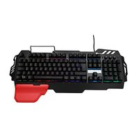RED FIGHTER K2, Klávesnice herní, podsvícená typ drátová (USB), černá, CZ/SK, výměnná područka, stoj