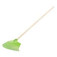 Vějířové hrábě Verto 15G053, na listí, 25 zubů, plastové hrábě, dřevěná násada, zelené