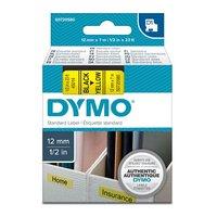 Páska DYMO D1 12mmx7m černý tisk/žlutý podklad,   S0720580