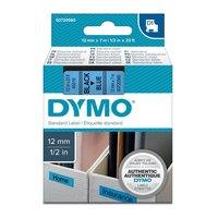 Páska DYMO D1 12mmx7m černý tisk/modrý podklad   S0720560
