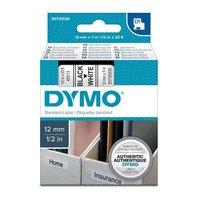 Páska DYMO D1 12mmx7m černý tisk/bílý podklad   S0720530
