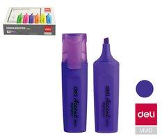 Zvýrazňovač DELI ES621 fialový plochý (8552)