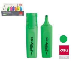 Zvýrazňovač DELI ES621 zelený plochý (8552)