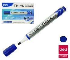 Popisovač DELI EU00130 modrý kulatý stíratelný (8559)