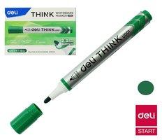 Popisovač DELI EU00150 zelený kulatý stíratelný (8559)