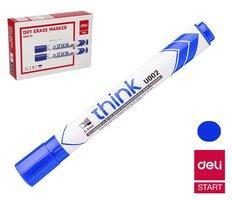 Popisovač DELI EU00230 modrý zkosený stíratelný (8569)