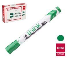 Popisovač DELI EU00250 zelený zkosený stíratelný (8569)