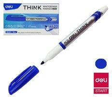 Popisovač DELI EU00630 modrý stíratelný (2709)