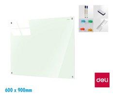 Tabule skleněná magnetická  600 x 900mm DELI 8735B
