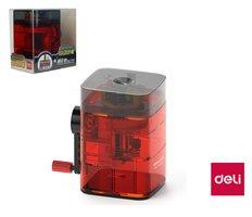 Ořezávátko stolní transparentní DELI 71162 červené