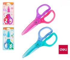 Nůžky  dětské 120mm NEON plastové DELI E6067