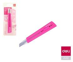 Nůž 126mm odlamovací DELI E2038 růžový