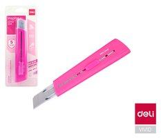 Nůž 169mm odlamovací DELI E2040 růžový