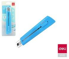 Nůž 169mm odlamovací DELI E2040 modrý