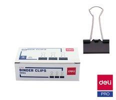 Binder clip 25mm, 12ks DELI E38564