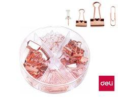 Sada kancelářských potřeb růžové zlato MACARON DELI 78553