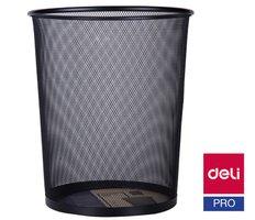 Koš odpadkový drátěný černý DELI E9189