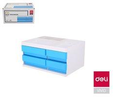 Box zásuvkový RIO 4 zásuvky DELI EZ25030 modrý