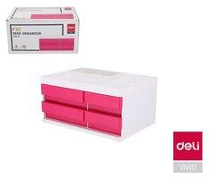 Box zásuvkový RIO 4 zásuvky DELI EZ25040 růžový