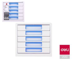Box zásuvkový RIO 5 zásuvek DELI EZ01033 modrý