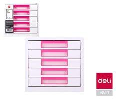 Box zásuvkový RIO 5 zásuvek DELI EZ01043 růžový