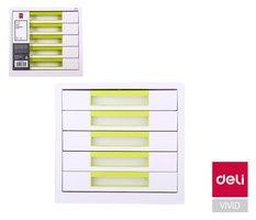 Box zásuvkový RIO 5 zásuvek DELI EZ01053 zelený