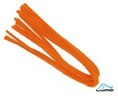 Drátek žinylka 500 x 8mm 10ks - oranžový LUMA