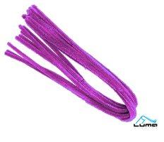 Drátek žinylka 500 x 8mm 10ks - fialový LUMA