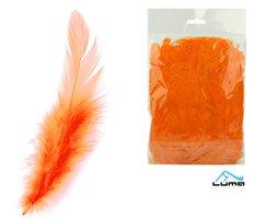 Peří barevné 10g oranžové LUMA