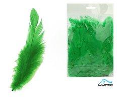Peří barevné 10g zelené LUMA