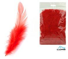 Peří barevné 10g červené LUMA