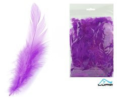 Peří barevné 10g fialové LUMA