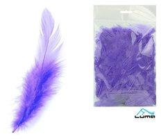 Peří barevné 10g levandulové LUMA