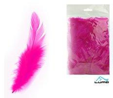 Peří barevné 10g purpurové LUMA