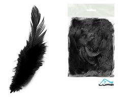 Peří barevné 10g černé LUMA