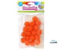 Bambulky oranžové, 18ks 25mm LUMA