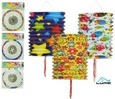 Lampion 15cm válec dětský mix LUMA