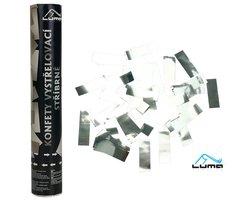 Konfety vystřelovací 30cm fóliové stříbrné LUMA