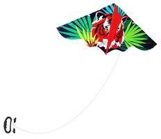 Drak létající PVC 128 x 61cm, tygr