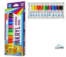 Barvy  akrylové sada LUMA 12 barev 12ml