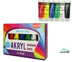 Barvy  akrylové sada LUMA 6 barev 75ml
