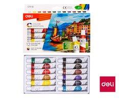 Barvy temperové DELI 12 barev Color Emotion EC11-12