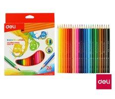 Pastelky DELI trojhranné 24 barev Color Emotion EC00220